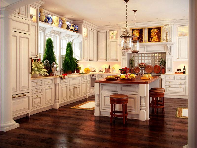 Как успешно да комбинираТе цвета на естествения паркет с цвета на кухненските шкафове?