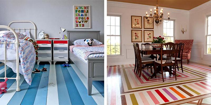 Използвайте геометрични форми и линии, за да обособите границите между отделните зони или стаи в дома ви.